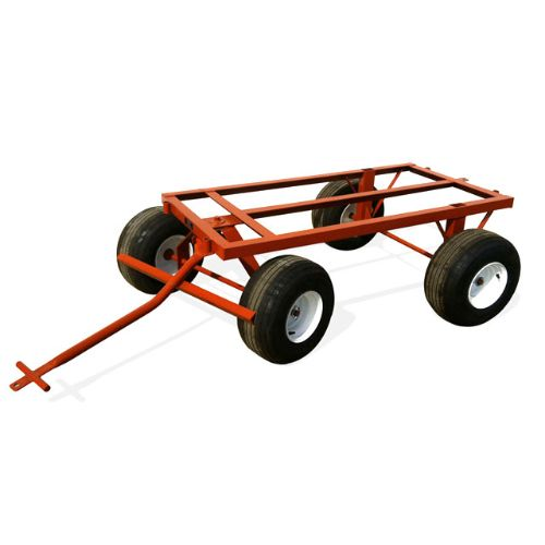 Four Wheel Trailer with 400 X 8 Flatbuster tires