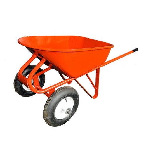 Two Wheel Heavy Duty Wheelbarrow with Flatbuster Tires