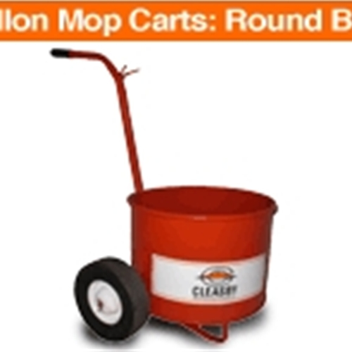 13 Gallon Mop Carts: Round Bucket With 10 X 1.75 tires.