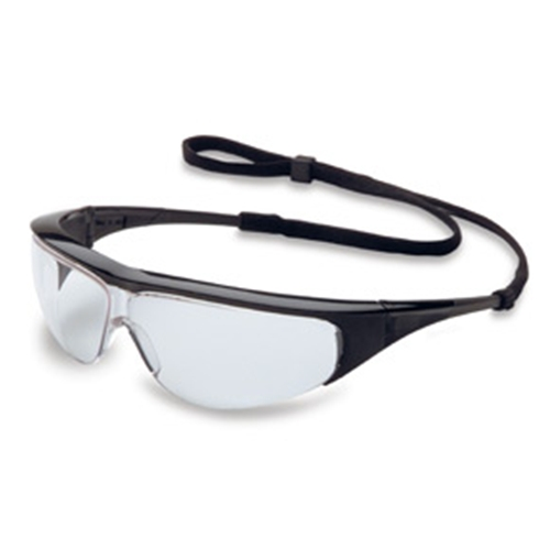 Uvex Millennia Protective Eyewear Black Frame Clear Lens, Uvextreme Anti-fog Coating