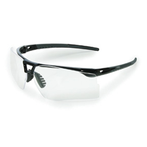 Uvex Bayonet Gloss Black & Gray Frame Amber Lens Supra-Dura® high-performance anti-scratch coating