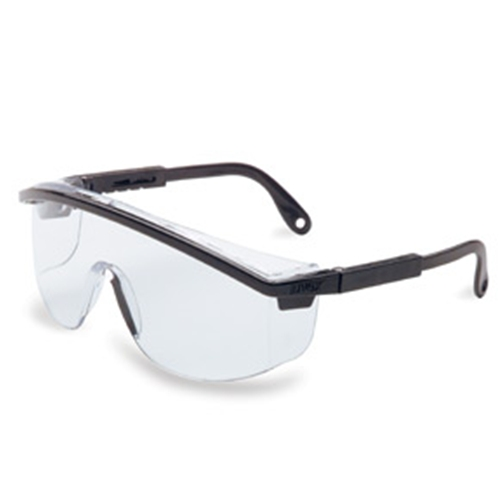 Uvex Astrospec 3000 Blue Frame Clear Lens, Uvextreme Anti-fog Coating, Duoflex Temples