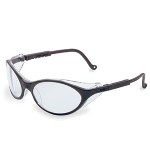 Uvex Bandit Black Frame Clear Lens, Ultra-dura Anti-scratch Coating