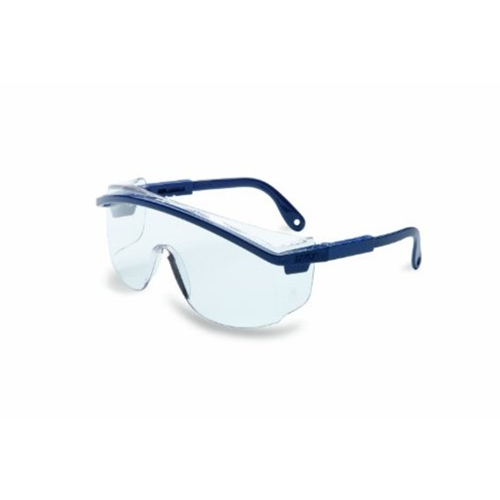 Uvex Astrospec 3000 S Blue Frame Clear Lens, Ultra-dura Anti-scratch Coating
