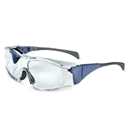 Uvex Ambient OTG Large, Blue Frame Clear Lens, Uvextreme Anti-fog Coating