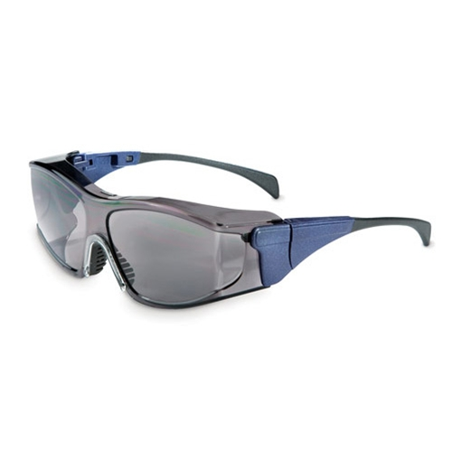 Uvex Ambient OTG Large, Blue Frame Standard Gray Lens, Ultra-dura Anti-scratch Coating