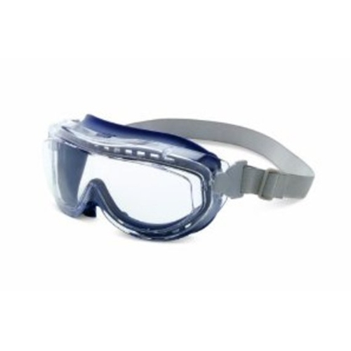 Uvex Flex Seal Navy Body, Fabric Headband Clear Lens,Uvextreme Anti-fog Coating