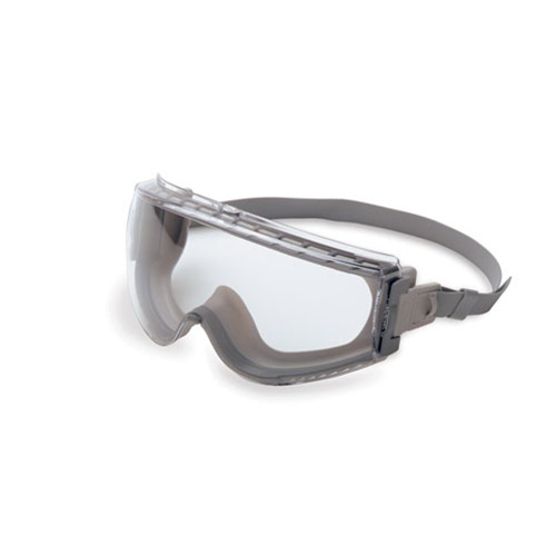 Uvex Stealth OTG Navy Body, Logoed Fabric Headband Clear Lens, Dura-streme Dual (Anti-fog / Anti-scratch) Coating