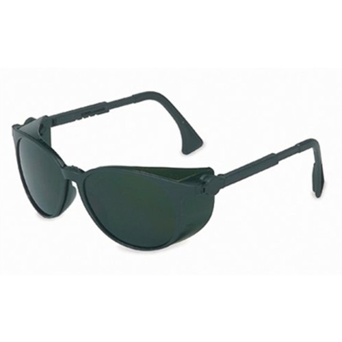 Uvex Flashback Classic Black Frame Shade 5.0 Infra-dura Lens, Ultra-dura Anti-scratch Coating