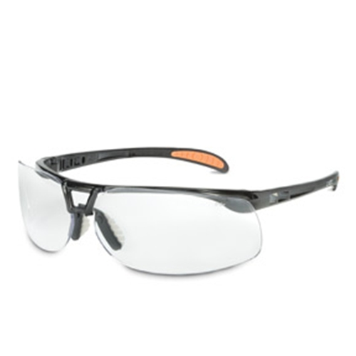 Uvex Protege Metallic Black Frame Silver Mirror Lens, Anti-scratch Coating
