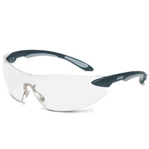 Uvex Ignite Black & Silver Frame Clear Lens, Anti-scratch Coating