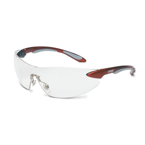 Uvex Ignite Metallic Red Frame Clear Lens, Uvextra Anti-fog