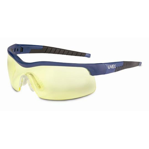 Uvex VersaPro Blue & Black Frame/Large Amber Lens, Supra-Dura Anti-scratch Coating