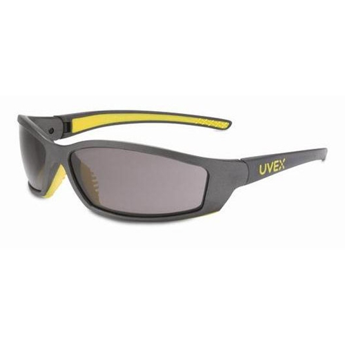 Uvex SolarPro Gray & Yellow Frame Gray Lens, Supra-Dura Anti-scratch Coating