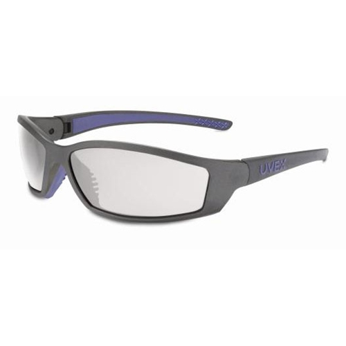 Uvex SolarPro Gray & Blue Frame SCT-Reflect 50 Lens, Supra-Dura Anti-sccratch Coating