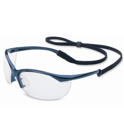 Vapor Series Metallic Blue Frame Clear Hardcoat Lens