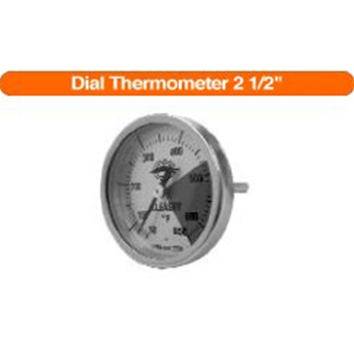 "21/2"" Stem Dial Thermometer for kettles"