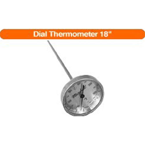 "18"" Stem Dial Thermometer for tankers"