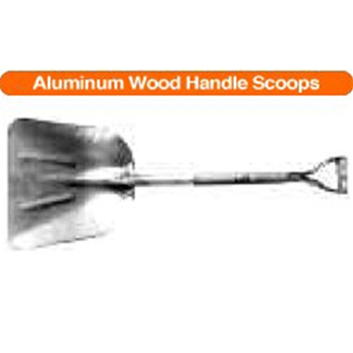 "#6 Steel ""D"" Wood Handle Scoops"