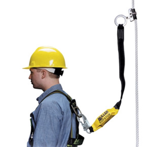 "ANSI Z359-2007 Compliant 5/8"" dia. polyester/polypropylene blend rope w/snap hook and loop, 125"